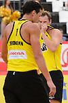 30.05.2015, Moskau, Vodny Stadion<br /> Moskau Grand Slam, Main Draw / Halbfinale<br /> <br /> Jonathan Erdmann (#1 GER), Kay Matysik (#2 GER) enttŠuscht / enttaeuscht / traurig <br /> <br />   Foto &copy; nordphoto / Kurth