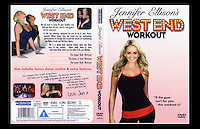 Jennifer Ellison's West End Workout - DVD, cover & rear cover - Sloane Street & Putney, London - Summer 2006