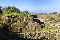 R&oslash;nne Granit-Steinbruch, Insel Bornholm, D&auml;nemark, Europa<br /> Granite quarry, Roenne, Isle of Bornholm, Denmark