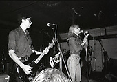 BLONDIE - Chris Stein and Debbie Harry - performing live at Dingwalls in Camden London UK - 24 Jan 1978.  Photo credit: George Bodnar Archive/IconicPix