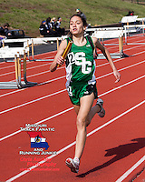 Ste. Genevieve freshman Taylor Werner anchors the the Lady Hunters 4x800 team to victory with a 2:16 split at the Festus Tiger Town Track and Field Invitational, Tuesday, April 2, 2013, Festus, Mo.
