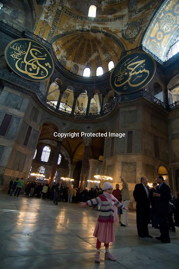 TURQUIA-ESTAMBUL.interior de la basilica de Santa Sofia de Estambul..foto JOAQUIN GOMEZ SASTRE©