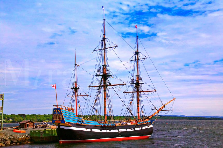 Ship Hector at port, Pictor, Nova Scotia, Canada