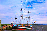 Ship Hector at port, Pictor, Nova Scotia, Canada
