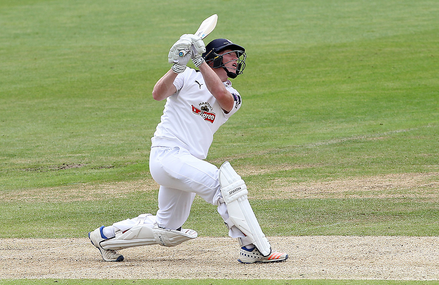 Hampshire's Tom Alsop<br /> <br /> Photographer Mick Walker/CameraSport<br /> <br /> County Cricket - County Championship Division One - Warwickshire v Hampshire - Sunday 10th July 2016 - Edgbaston - Birmingham<br /> <br /> &copy; CameraSport - 43 Linden Ave. Countesthorpe. Leicester. England. LE8 5PG - Tel: +44 (0) 116 277 4147 - admin@camerasport.com - www.camerasport.com