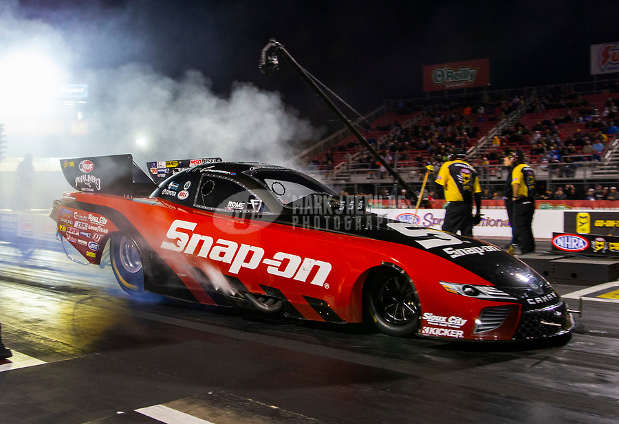 Apr 20, 2018; Baytown, TX, USA; NHRA funny car driver Cruz Pedregon during qualifying for the Springnationals at Royal Purple Raceway. Mandatory Credit: Mark J. Rebilas-USA TODAY Sports