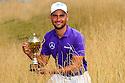 Moritz Lampert (GER) poses with the trophy, European Challenge Tour, Azerbaijan Golf Challenge Open 2014, Azerbaijan National Golf Club, Quba, Azerbaijan. (Picture Credit / Phil Inglis)