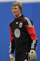 DC United goalkeeper Chase Harrison   at the first official training session of the 2011 MLS season.  At Greenbelt Sportsplex, Friday January 28, 2011.