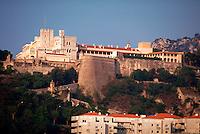 Prince's Palace on hilltop, Monte Carlo, Monaco