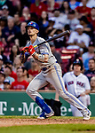 22 June 2019: Toronto Blue Jays second baseman Cavan Biggio at bat in the 9th inning against the Boston Red Sox at Fenway :Park in Boston, MA. The Blue Jays rallied to defeat the Red Sox 8-7 in the 2nd game of their 3-game series. Mandatory Credit: Ed Wolfstein Photo *** RAW (NEF) Image File Available ***