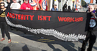 No to Austerity, march and rally, Manchester, Sunday 4 October 2015