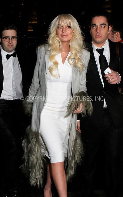 WWW.ACEPIXS.COM . . . . .  ....February 8 2012, New York City....Lindsay Lohan arriving at the amfAR New York Gala To Kick Off Fall 2012 Fashion Week at Cipriani Wall Street on February 8, 2012 in New York City.....Please byline: NANCY RIVERA- ACEPIXS.COM.... *** ***..Ace Pictures, Inc:  ..Tel: 646 769 0430..e-mail: info@acepixs.com..web: http://www.acepixs.com