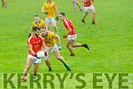 Jeff O'Donoghue of East Kerry in action against Shane Stack Feale Rangers during the Kerry County Senior Football Championship Round 1 match between Feale Rangers and East Kerry at Frank Sheehy Park in Listowel