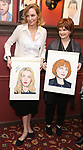 """Uma Thurman and Blair Brown from the cast of """"The Parisian Woman"""" honored with a Sardi's Wall of Fame Portrait on February 28, 2018 at Sardi's in New York City."""