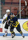 Tyler McNeely (Northeastern - 94), Rhett Bly (Merrimack - 27) - The visiting Merrimack College Warriors defeated the Northeastern University Huskies 4-3 (OT) on Friday, February 4, 2011, at Matthews Arena in Boston, Massachusetts.