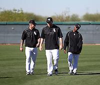 Brett Lawrie (left), Todd Frazier (center), Jimmy Rollins (right) - Chicago White Sox 2016 spring training (Bill Mitchell)