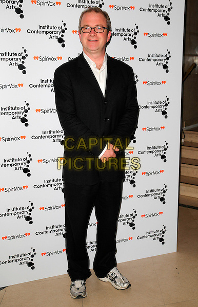 """HARRY ENFIELD.The """"Figures of Speech"""" fundraising gala, Royal Horticultural Halls, London, England..February 27th, 2008.full length black suit glasses .CAP/CAN.©Can Nguyen/Capital Pictures."""