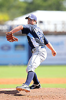 Tampa Bay Rays pitcher Taylor Guerrieri #22 during an Instructional League game against the Baltimore Orioles at Charlotte County Sports Park on October 7, 2011 in Port Charlotte, Florida.  (Mike Janes/Four Seam Images)