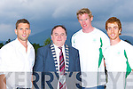 Kerry Mayor Tom Fleming meets Killarney Olympians l-r: Paul Griffin, Sean casey and Cathal Moynihan at the farewell party in the Killarney Oaks Hotel Thursday night   Copyright Kerry's Eye 2008