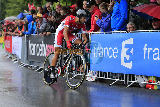 Nacer Bouhanni (FRA) Cofidis in action during Stage 1, a 14km individual time trial around Dusseldorf, of the 104th edition of the Tour de France 2017, Dusseldorf, Germany. 1st July 2017.<br /> Picture: Eoin Clarke | Cyclefile<br /> <br /> <br /> All photos usage must carry mandatory copyright credit (&copy; Cyclefile | Eoin Clarke)