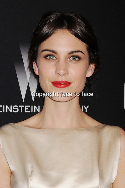 BEVERLY HILLS, CA- JANUARY 12: Actress Alexa Chung attends The Weinstein Company &amp; Netflix 2014 Golden Globes After Party held at The Beverly Hilton Hotel on January 12, 2014 in Beverly Hills, California.<br />