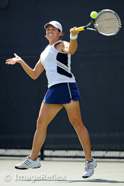 8 May 2009:  FIU's Liset Brito returns the ball during FIU's match against Princeton during the first round of the NCAA 2009 Tennis Championships (Coral Gables Regional) at the Neil Schiff Tennis Center in Coral Gables, Florida.