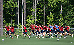 12 May 2006: The players on the team engage in a sprinting exercise. The United States' Men's National Team trained at SAS Soccer Park in Cary, NC, in preparation for the 2006 FIFA World Cup tournament to be played in Germany from June 9 through July 9, 2006.