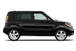 Driver side profile view of a 2010 Kia Soul!.