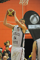Westlake BHS's Jack Salt takes a rebound during the 2013 New Zealand Secondary Schools basketball championship boys' semifinal against Rosmini College at Arena Manawatu, Palmerston North, Wellington, New Zealand on Friday, 30 August 2013. Photo: Dave Lintott / lintottphoto.co.nz