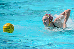 LOS ANGELES, CA - MAY 13: Paige Hauschild #5 of the University of Southern California chases a loose ball during the Division I Women's Water Polo Championship held at the Uytengsu Aquatics Center on the USC campus on May 13, 2018 in Los Angeles, California. USC defeated Stanford 5-4. (Photo by Tim Nwachukwu/NCAA Photos via Getty Images)
