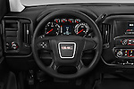 Car pictures of steering wheel view of a 2017 GMC Sierra-1500 Regular-Cab 2 Door Pickup Steering Wheel