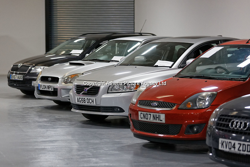 Pictured: Interior view of the showroom.<br /> Re: John Pye online auction site in Port Talbot, south Wales. UK.