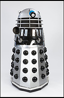 BNPS.co.uk (01202 558833)Pic: CapesDunn/BNPS<br /> <br /> 'Lifesize' Dalek Est &pound;400.<br /> <br /> More Daleks than you can shake a sonic screwdriver at...<br /> <br /> One man's lifetime collection of hundreds of Daleks is going under the hammer and looking to exterminate their &pound;8,000 estimate.<br /> <br /> The collection, which includes 17 6ft life-size models, had been amassed over five decades and had taken over the owner's detached house and garden in Salford, Greater Manchester.<br /> <br /> But the man in his 60s, who is not being identified, sadly died recently and his collection has now been put up for sale with Capes Dunn auctioneers in Stockport.