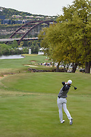 Lucas Bjerregaard (DEN) watches his tee shot on 12 during day 5 of the WGC Dell Match Play, at the Austin Country Club, Austin, Texas, USA. 3/31/2019.<br /> Picture: Golffile | Ken Murray<br /> <br /> <br /> All photo usage must carry mandatory copyright credit (&copy; Golffile | Ken Murray)