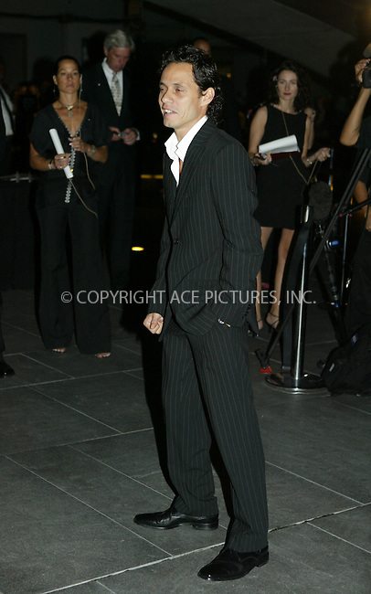 Marc Anthony attended the Coty 100th Anniversary Party ate the American Museum of Natural History in New York City. September 12, 2004.Please byline: PHILIP VAUGHAN/ACEPIXS.com..*PAY-PER-USE*....IMPORTANT: Please note that our old trade name New York Photo Press has changed to ACE Pictures. New York Photo Press and ACE Pictures are both owned by All Celebrity Entertainment, Inc.......All Celebrity Entertainment, Inc..Contact: Alecsey Boldeskul, (646) 267 6913..Philip vaughan, (646) 769 0430..e-mail: info@acepixs.com..Philip.Vaughan@acepixs.com