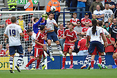09/08/2015 Sky Bet League Championship Preston North End v Middlesbrough <br /> Dimitrios Konstantopoulos punches clear