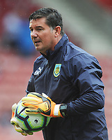 Burnley Goalkeeping Coach Billy Mercer during the pre-match warm-up <br /> <br /> Photographer Kevin Barnes/CameraSport<br /> <br /> The Premier League - Southampton v Burnley - Sunday August 12th 2018 - St Mary's Stadium - Southampton<br /> <br /> World Copyright &copy; 2018 CameraSport. All rights reserved. 43 Linden Ave. Countesthorpe. Leicester. England. LE8 5PG - Tel: +44 (0) 116 277 4147 - admin@camerasport.com - www.camerasport.com