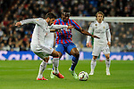 Real Madrid´s Lucas silva and Levante UD´s Simao Mate during 2014-15 La Liga match between Real Madrid and Levante UD at Santiago Bernabeu stadium in Madrid, Spain. March 15, 2015. (ALTERPHOTOS/Luis Fernandez)