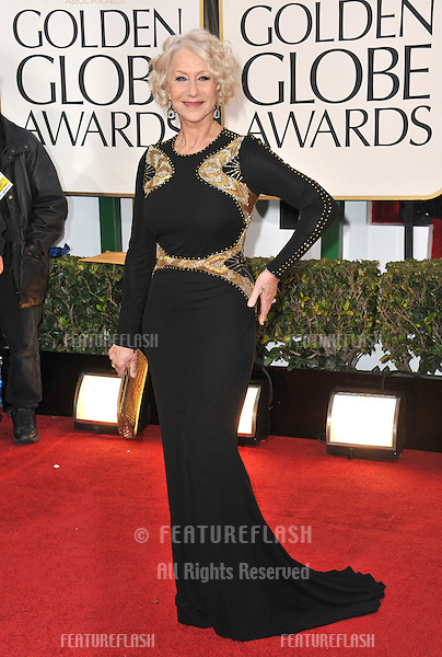 Helen Mirren at the 70th Golden Globe Awards at the Beverly Hilton Hotel..January 13, 2013  Beverly Hills, CA.Picture: Paul Smith / Featureflash