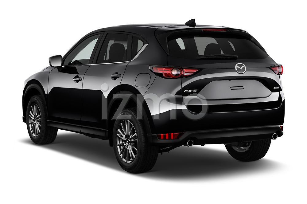 Car pictures of rear three quarter view of a 2017 Mazda CX-5 Sport 5 Door SUV angular rear