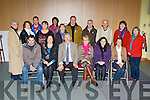 Participating in the South Kerry Development Partnership folklore course in St Michael's church Killorglin on Friday was front row l-r: Concubhuir Lyne Valentia, Una Cosgrave KCC, John O'Connor Chairperson, Dr Catherine O'Connell UL, Clare Horgan Waterville, Laura King Ballinskelligs. Back row: Eileen O'Leary Bantry,  Mairead Robinson Blackwater, Des O'Shea Killorglin, Mary O'Neill Blackwater, Toni Osborne Castlemaine, Cynthia Behrens Caherciveen, Stephen Kelleghan Iveragh, Seán O Suilleabháin Killorglin, Micheál O hAaileasa Waterville, Mary McGarvey Dromid and Síle Burns Ballinskelligs.