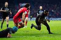 Semesa Rokoduguni of Bath Rugby scores a try in the second half. Heineken Champions Cup match, between Stade Toulousain and Bath Rugby on January 20, 2019 at the Stade Ernest Wallon in Toulouse, France. Photo by: Patrick Khachfe / Onside Images