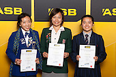 Badminton Girls finalists Carmen Yuen, Anona Pak and Victoria Cheng. ASB College Sport Young Sportsperson of the Year Awards held at Eden Park, Auckland, on November 24th 2011.