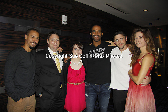 Bryan (Vice President of Marketing) and Katie (PR), Joyce Becker's Soap Opera Festival brings actors from Young and Restless - Amelia Heinle, Kristoff St. John, Bryton James and Robert Adamson on September 26, 2015 to Caesers Horseshoe Casino in Baltimore, Maryland for a Q&A with fans with a drawing for lucky fans to meet the actors for autographs and photos.  (Photo by Sue Coflin/Max Photos)