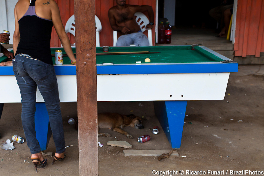 Prostitution at Garimpo Agua Branca, Gold mining area in Para State, Amazon rain forest, Brazil.
