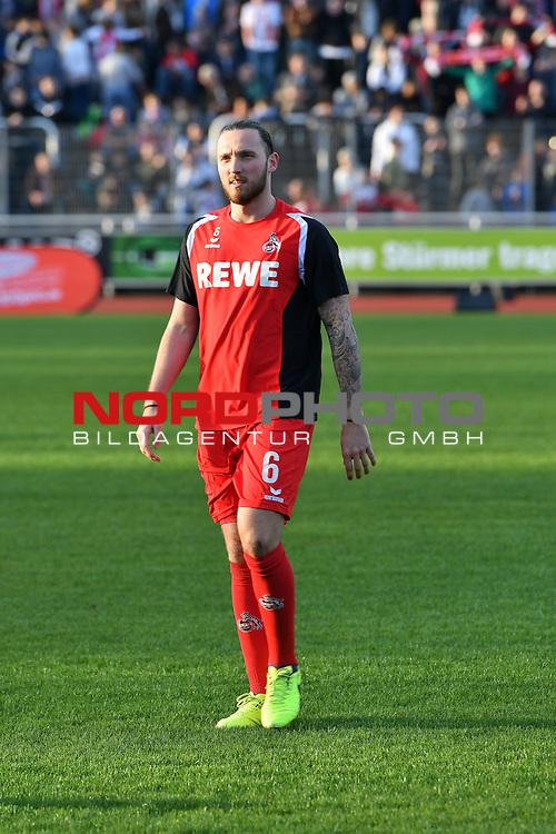 23.03.2017, BELKAWarena, Bergisch Gladbach , GER, FSP, Testspiel, SV Bergisch Gladbach 09 (MRL) vs. 1. FC K&ouml;ln ( 1.FBL) <br /> <br /> im Bild / picture shows: <br /> Marco H&ouml;ger/Hoeger (1. FC Koeln #6),Hochformat,Einzelaktion, Ganzk&ouml;rper / Ganzkoerper, <br /> <br /> <br /> <br /> Foto &copy; nordphoto / Meuter