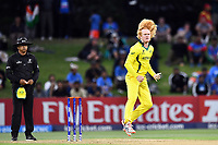 Australia's Lloyd Pope into his delivery stride during the ICC U-19 Cricket World Cup 2018 Finals between India v Australia, Bay Oval, Tauranga, Saturday 03rd February 2018. Copyright Photo: Raghavan Venugopal / © www.Photosport.nz 2018 © SWpix.com (t/a Photography Hub Ltd)