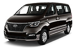2019 Hyundai H1-People Executive 5 Door Mini Van angular front stock photos of front three quarter view