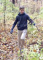 Students worked at removing invasive species of plants at Cool Creek Park in Westfield.  Freshman Evan Miller