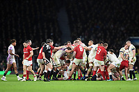 Tempers flare between the two sides. Natwest 6 Nations match between England and Wales on February 10, 2018 at Twickenham Stadium in London, England. Photo by: Patrick Khachfe / Onside Images